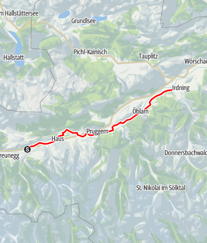 Karte / Etappe 02 Ennsradweg Schladming - Irdning