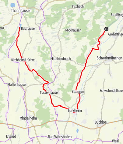 Karte / 7-Schwaben-Tour