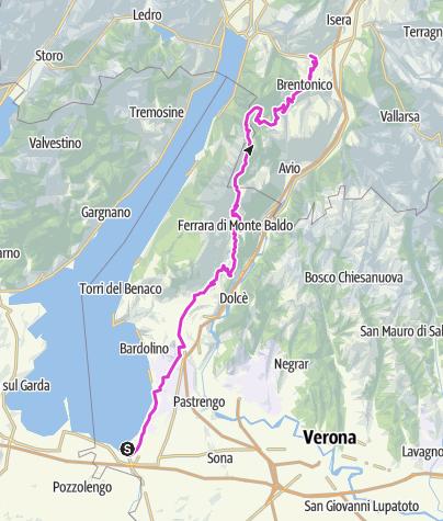 Karte / Peschiera - Monte Baldo - Mori