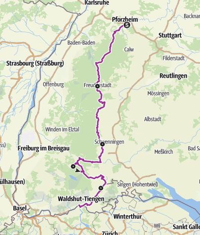 Karte / Schwarzwald Panorama-Radweg