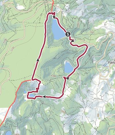 Carte / Randonnée le long de trois lacs