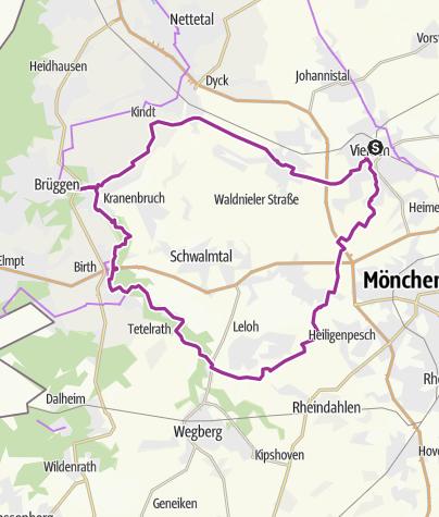 Karte / Ausflug zur Burg Brüggen von Viersen