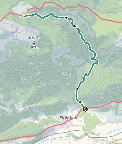 Karte / Ahorn- und Grafenbergsee