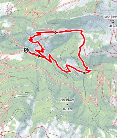 Karte / Großarl: Unterwandalm - Karseggalm - Breitenebenalm