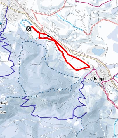Karte / Loipe N 1, Kappeler-Runde