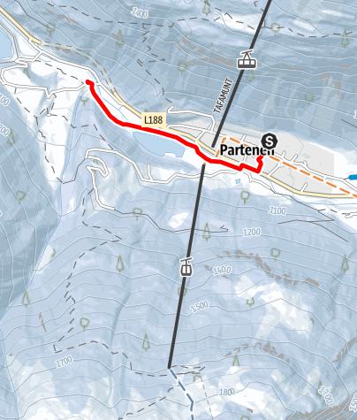 Karte / Verbindungsloipe Partenen - Gaschurn (klassisch)