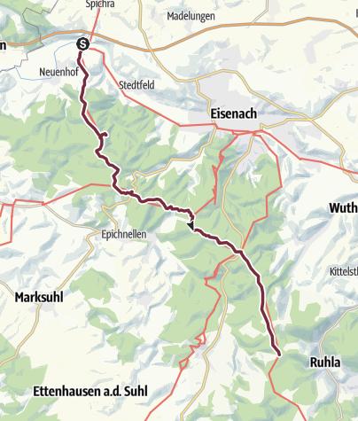 Thüringer Wald Karte.Von Der Werra In Den Thüringer Wald Fernwanderweg Outdooractive Com