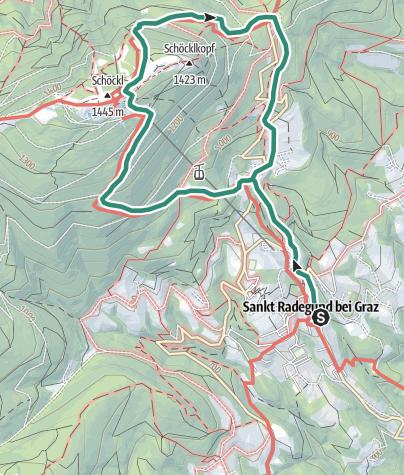 Cartina / Schöckl-Stubenbergweg