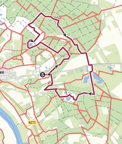 Map / Nationaal park De Maasduinen - Afferden