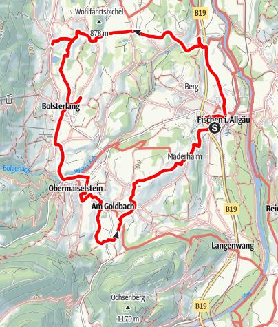 "Karte / Themenweg Hörnerdörfer: Wege für Leib und Seele - Kategorie ""blau"""