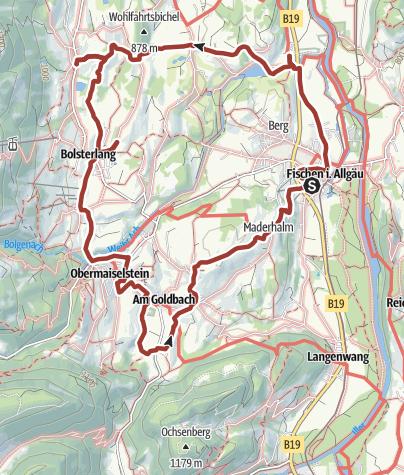 "Map / Themenweg Hörnerdörfer: Wege für Leib und Seele - Kategorie ""blau"""