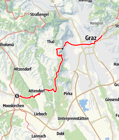 Karte / Mariazeller Weg 5. Tagesetappe