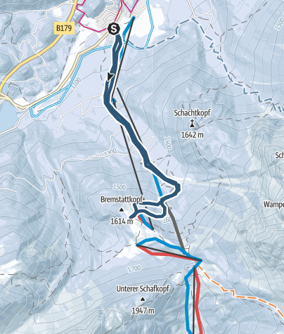 Karte / PistenTour zur Sunnalm 605 HM, A-Biberwier