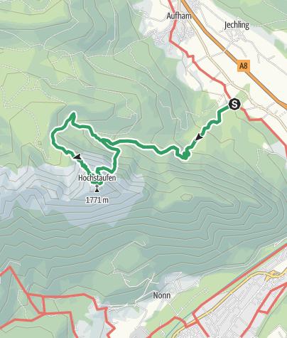 Karte / Hochstaufen Klettersteig, Piding