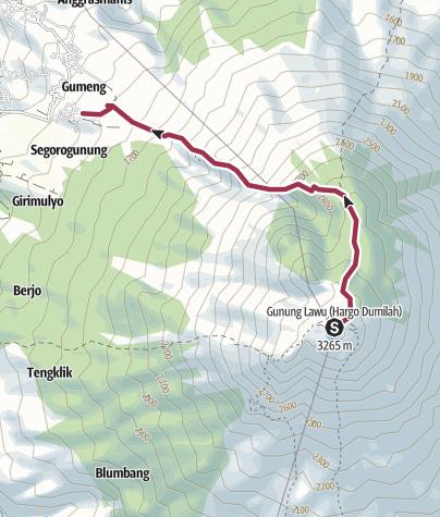 Карта / LAWU VIA CANDI CETHO