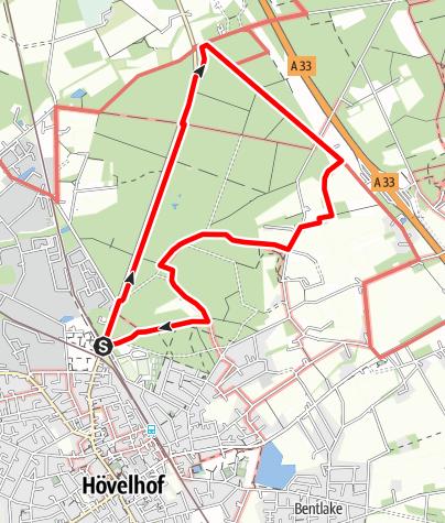 Karte / Heimatkundlicher Rundwanderweg Hövelhofer Wald (6 km)