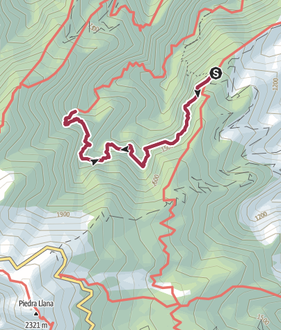 Karte / Vom Casa del Monte zur Marcos- und zur Cordero-Quelle