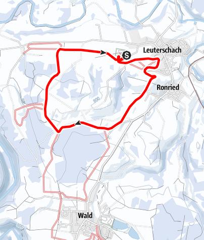 Karte / Loipen über Beerberg und Viehweid (L 1)