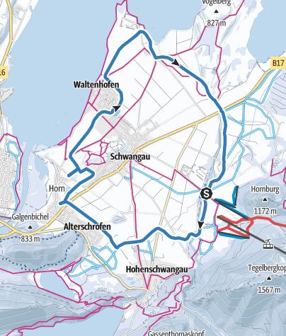 Karte / Schwangauer Rundloipe