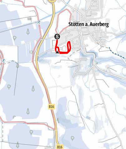 Karte / Loipenrunde an der Roßmoosstraße (St 3) südliche Erweiterung