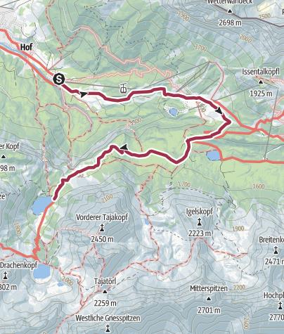 Karte / Ehrwald - Seebensee über Ehrwalder Alm