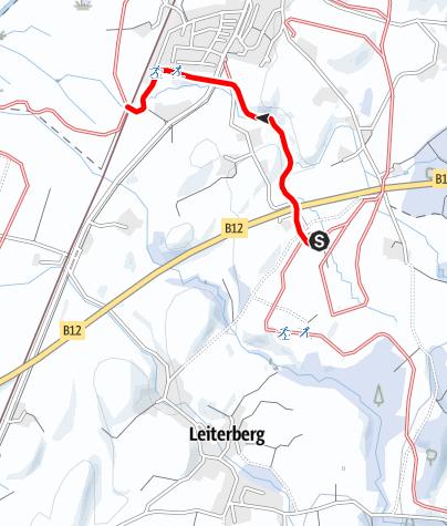 Karte / Verbindungsloipe KempterWald zur Moosloipe