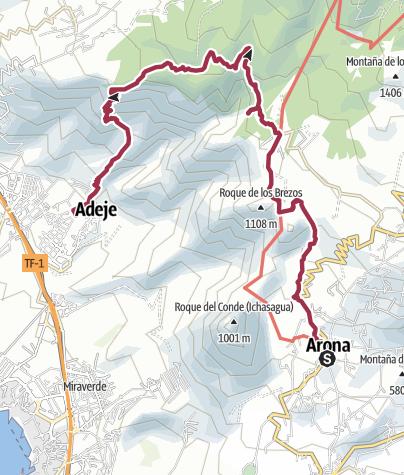 Karte / Zwischen Arona und Adeje