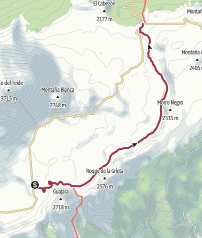Karte / Vom Parador nach El Portillo