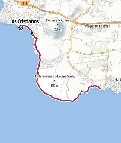 Karte / Zum südlichsten Punkt der Insel
