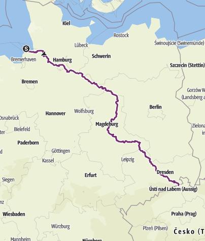 Karte / Elberadweg
