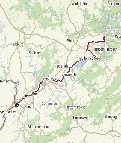 Karte / Moselhöhenweg