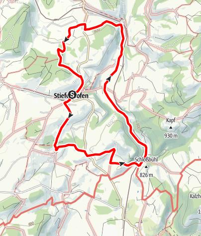 Karte / Zum Ursprung der Oberen Argen - Rund um Stiefenhofen - Westallgäuer Wasserweg 21