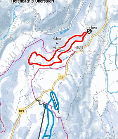 Karte / J - Rundkurs Kornau - Reute - Jauchen