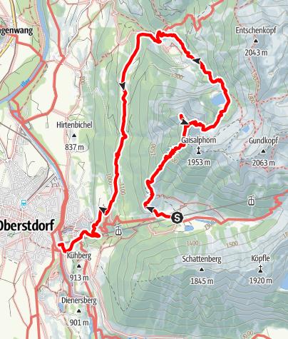 Karte / Rubihorn