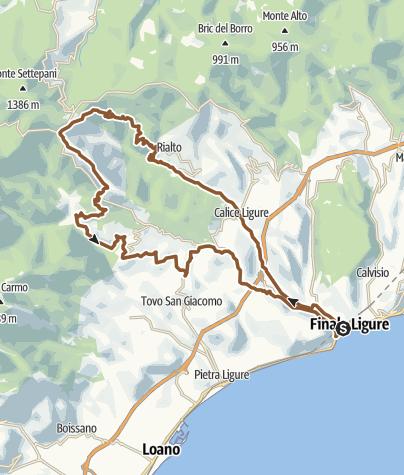 Karte / Toboga di Canova - Finale Ligure Freeride-Tour