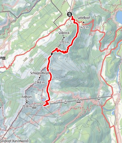 Karte / Anderl-Heckmair Gedächtnis-Pfad