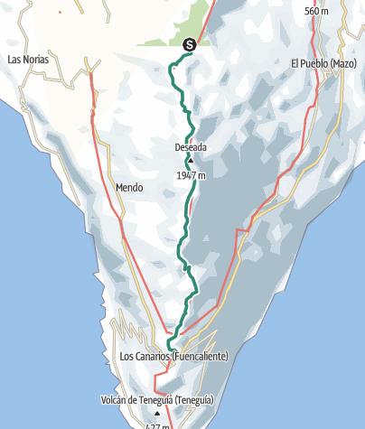 Karte / Die Route der Vulkane