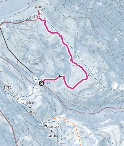 Karte / Rigi - Schwändi Weg