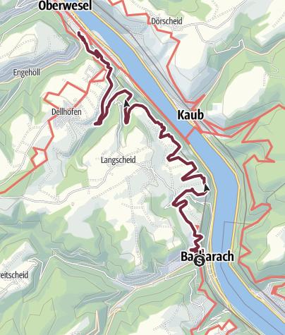 Map / RheinBurgenWeg Stage 3: Bacharach - Oberwesel (South - North)