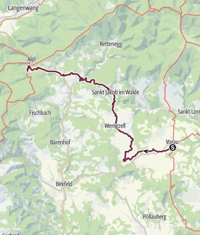 Karte / Quer durch das Joglland
