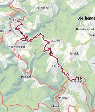 Map / Wäller Tour Klosterweg von Rengsdorf nach Waldbreitbach