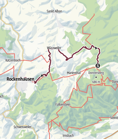 Karte / Pfälzer Höhenweg Etappe 03 Bastenhaus - Rockenhausen