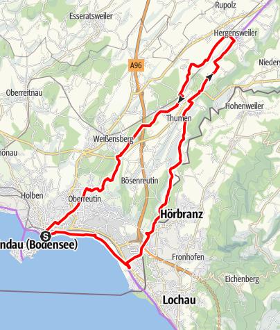 Karte / Leiblachtal-Runde