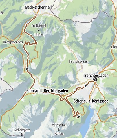 Karte / MTB: BGL - Bikerunde Mitte (Abschnitt 2)