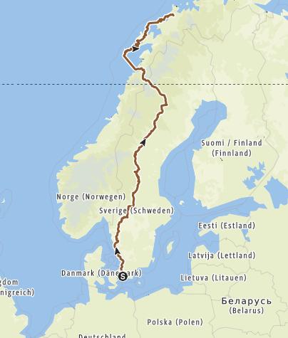 Karte / schweden norwegen