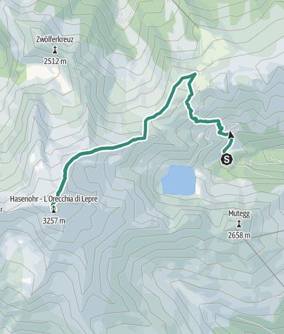 Karte / Hasenohr (3.257 m)