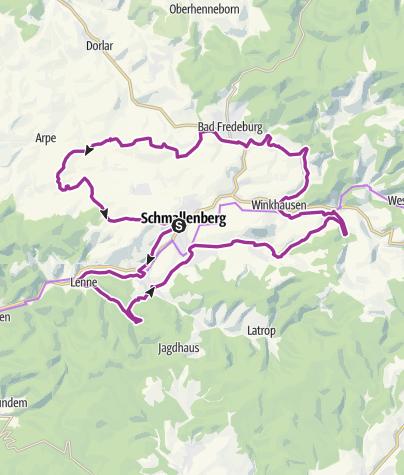 Karte /  Auf der Kinderland-Trekkingroute in Schmallenberg