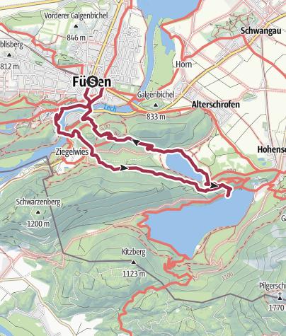 Karte / Alpenrosenweg-Rundwanderung