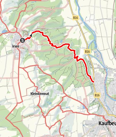 Karte / Waldbauschülerweg bei Irsee