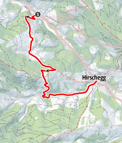 Karte / Spengerwirt - Pongratzwirt - Radiomuseum - Hirschegg